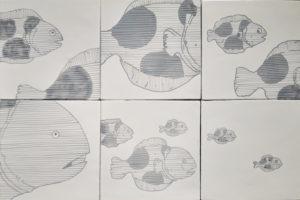 Set 6 da 6 Piastrelle 20×20 cm Pesci 03