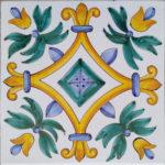 Piastrella Artigianale da 25 cm : PV07