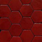"""Esempio di Montaggio : Esagoni """"Linea 800"""" Rosso Selenio"""