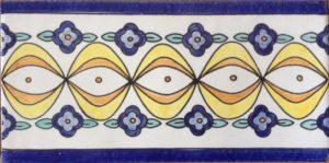 Decorazioni Vietresi su Piastrella artigianale Ceramica di Cava