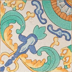 Piastrella Vietrese Rustica decorata a mano