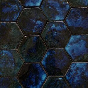 """Esempio di Montaggio : Esagoni """"Linea 800"""" Blu 10K"""
