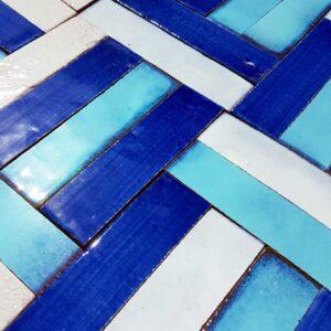 Listelli in Cotto Maiolicato : Esempio Montaggio Color